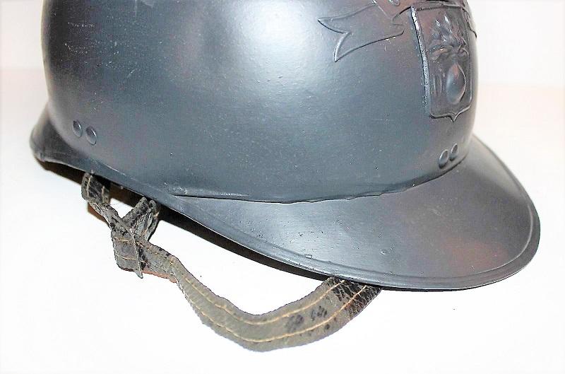 Casque Mdle 15 de la défense passive avec insigne particulier type rondache Pm_04_10
