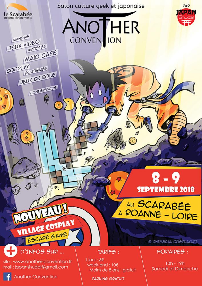 08 & 09 Septembre 2018: 4éme Another Convention Scarabée Roanne Affich10