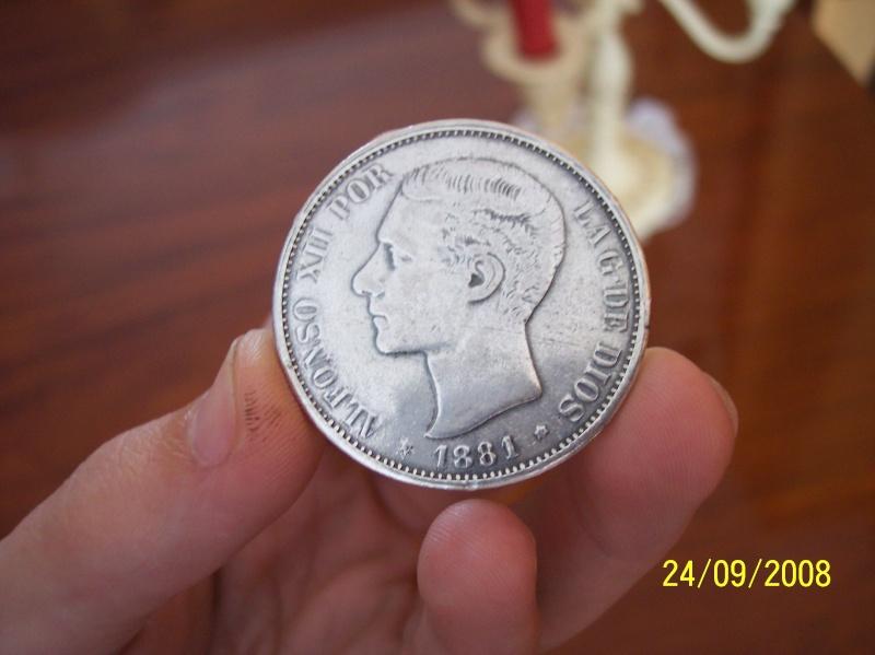 Alfonso XII - Moneda 5 pesetas 1881 100_5710