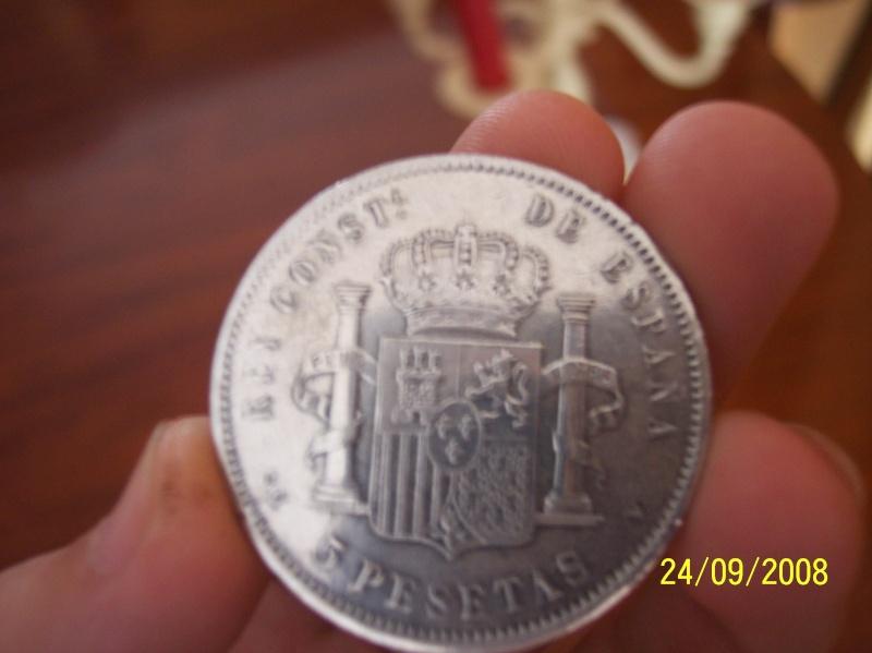 Alfonso XII - Moneda 5 pesetas 1881 100_5711