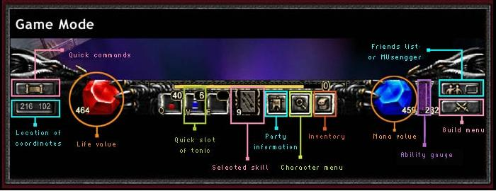 Game Interface 110