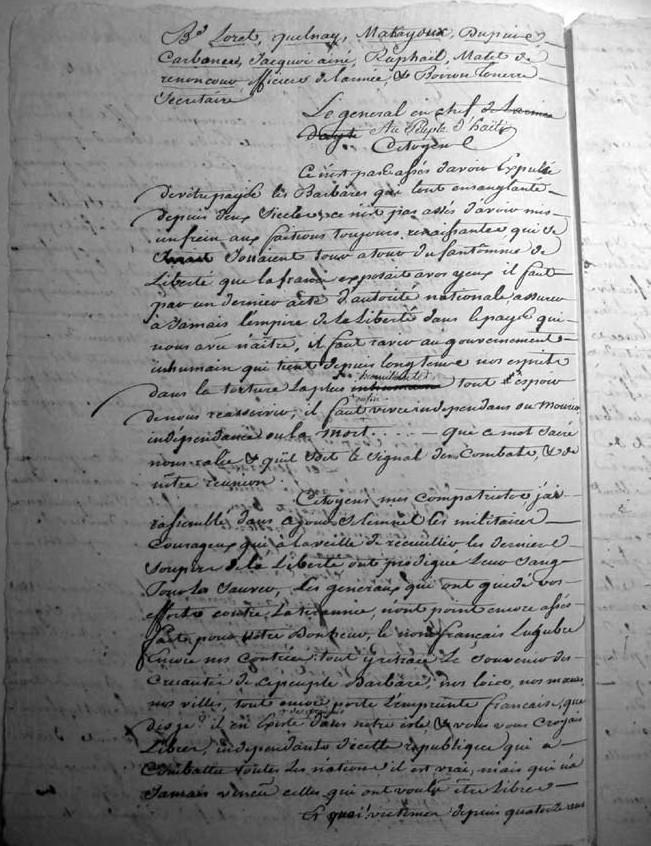 Declaration of Independance - Haiti 1804 Deklar10