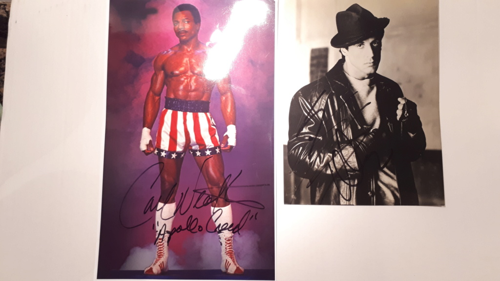 AUTOGRAPHES Stallone et Weather 20190110
