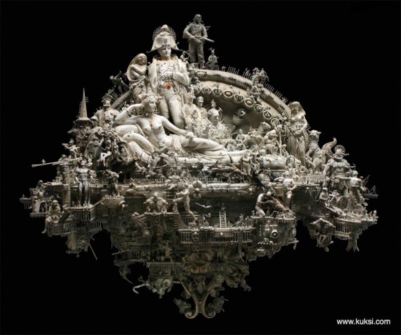 une sculpture et une rencontre extraordinnaire Kuksi110