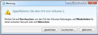 Datensicherung Volume10