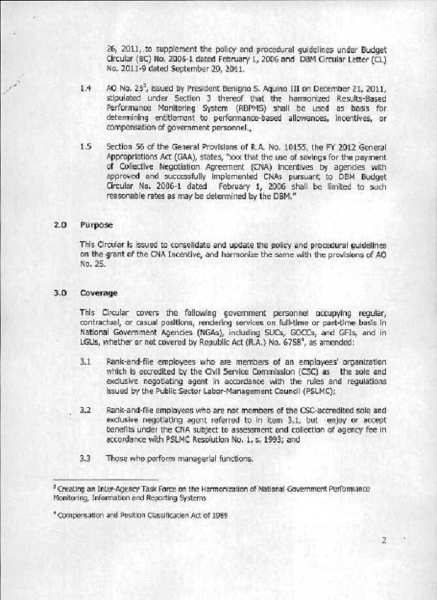 DBM Circular 2012-4 dtd 12/17/12 GUIDELINES ON THE GRANT OF CNA Dbm_cn11