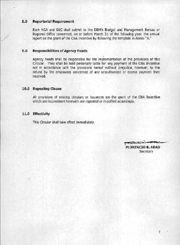 DBM Circular 2012-4 dtd 12/17/12 GUIDELINES ON THE GRANT OF CNA Dbm_cn16