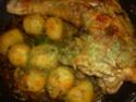 cuisse de dinde cuisiné en sauce.photo. Cuisse16