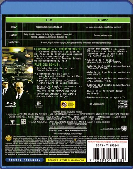 {Blu-Ray} Matrix Reloaded Matrix35