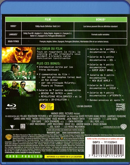 {Blu-Ray} Matrix Revolutions Matrix36