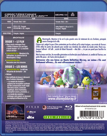 {Blu-Ray} Monstres & Cie Monstr10