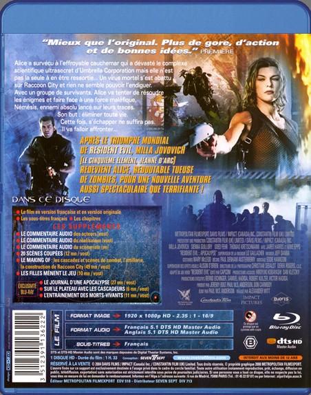 {Blu-Ray} Resident Evil Apocalypse Reside92