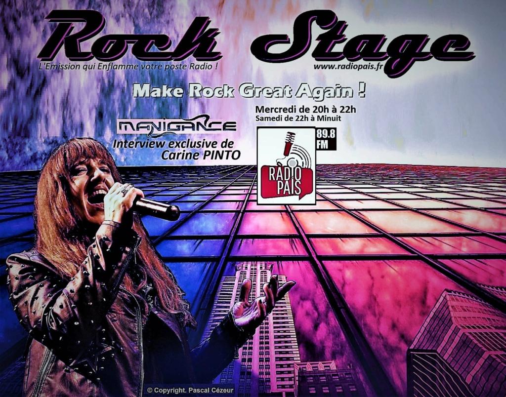 """ROCK STAGE avec Carine PINTO -MANIGANCE- sa playlist et les """"secrets"""" du prochain album... dès 22h ! samedi ... Aaa211"""