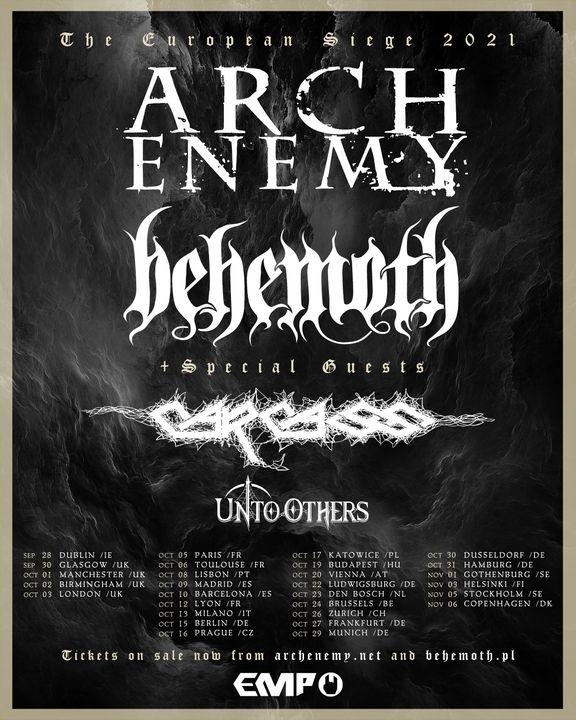 EUROPEAN SIEGE TOUR 2021: Arch Enemy - Behemoth - Carcass Aaa453