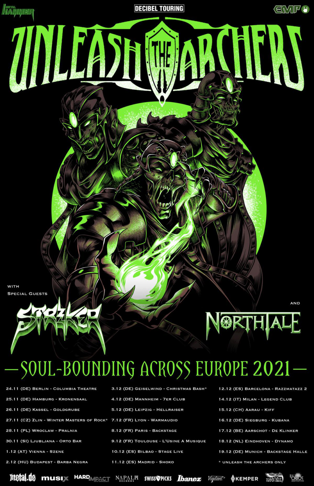 UNLEASH THE ARCHERS announce Soul-Bounding Across Europe 2021 tour! Aab11