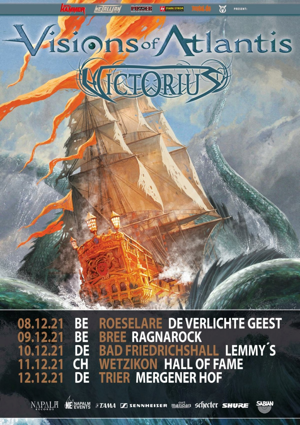 VISIONS OF ATLANTIS live in Europe: Aab147
