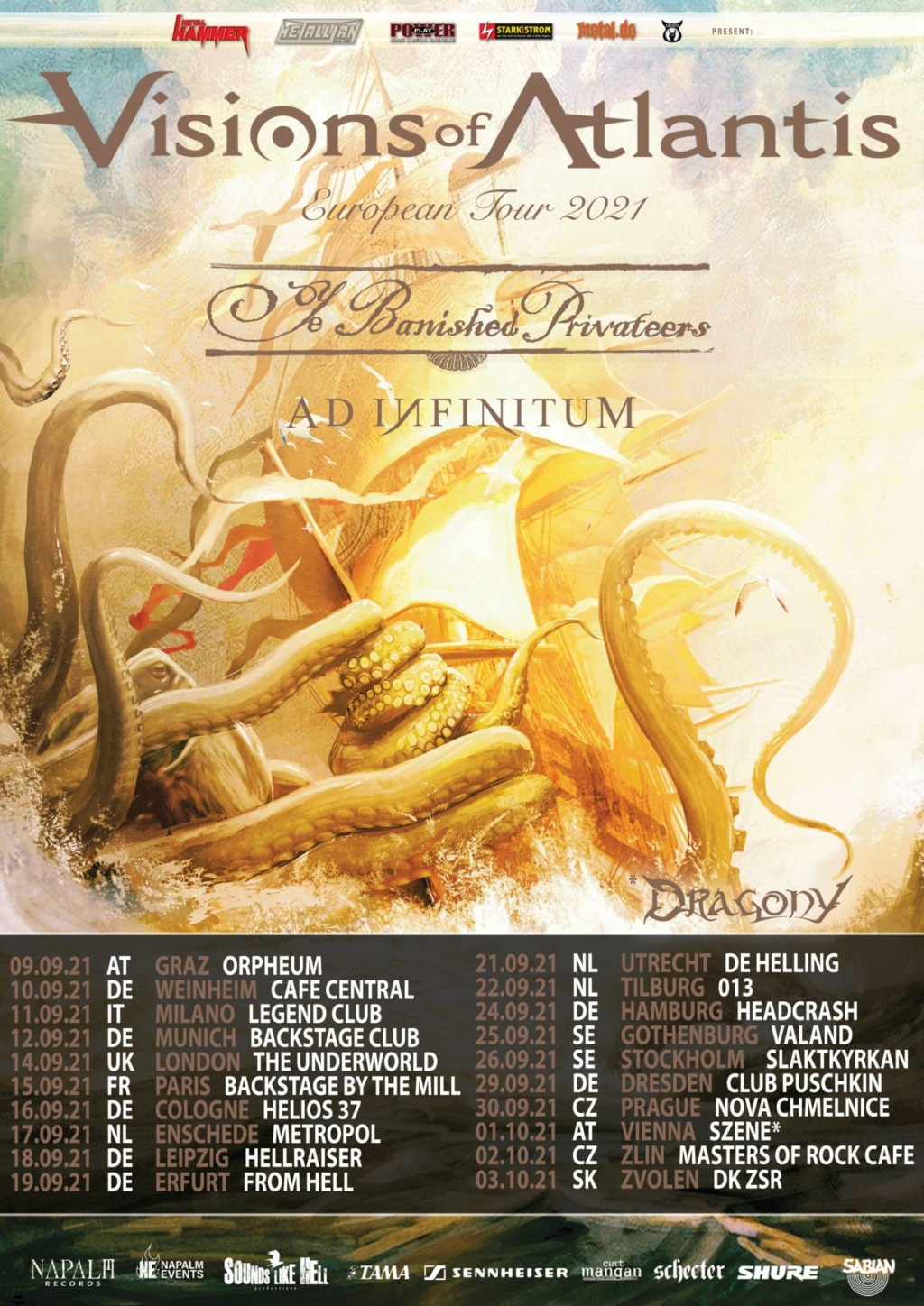 VISIONS OF ATLANTIS live in Europe: Aab148