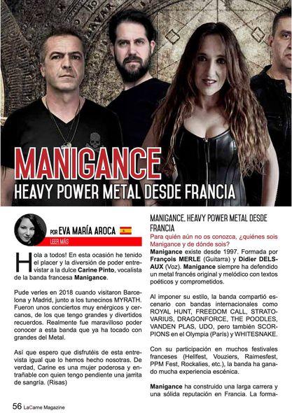 Manigance...   Dans LaCarne Magazine (Espagne) du mois de mars 2021 Aab160