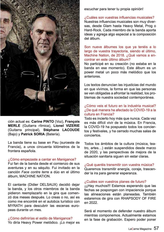 Manigance...   Dans LaCarne Magazine (Espagne) du mois de mars 2021 Aac29