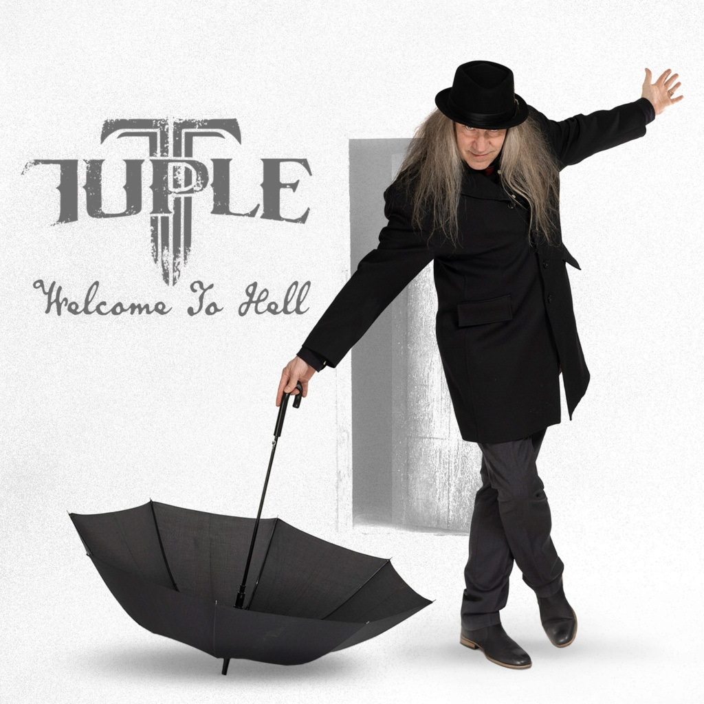 "TUPLE  ""Tommi ""Tuple"" Salmela (Tarot, Lazy Bonez, Raskasta Joulua). Welcome To Hell, le 28 Mai 2021. Aac43"