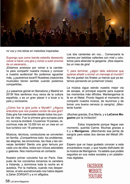 Manigance...   Dans LaCarne Magazine (Espagne) du mois de mars 2021 Aad10