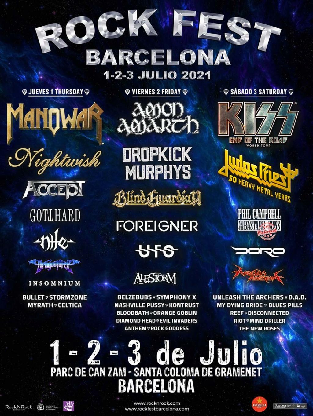 Rock Fest Barcelona du 1 au 3 juillet 2021 Barcel10