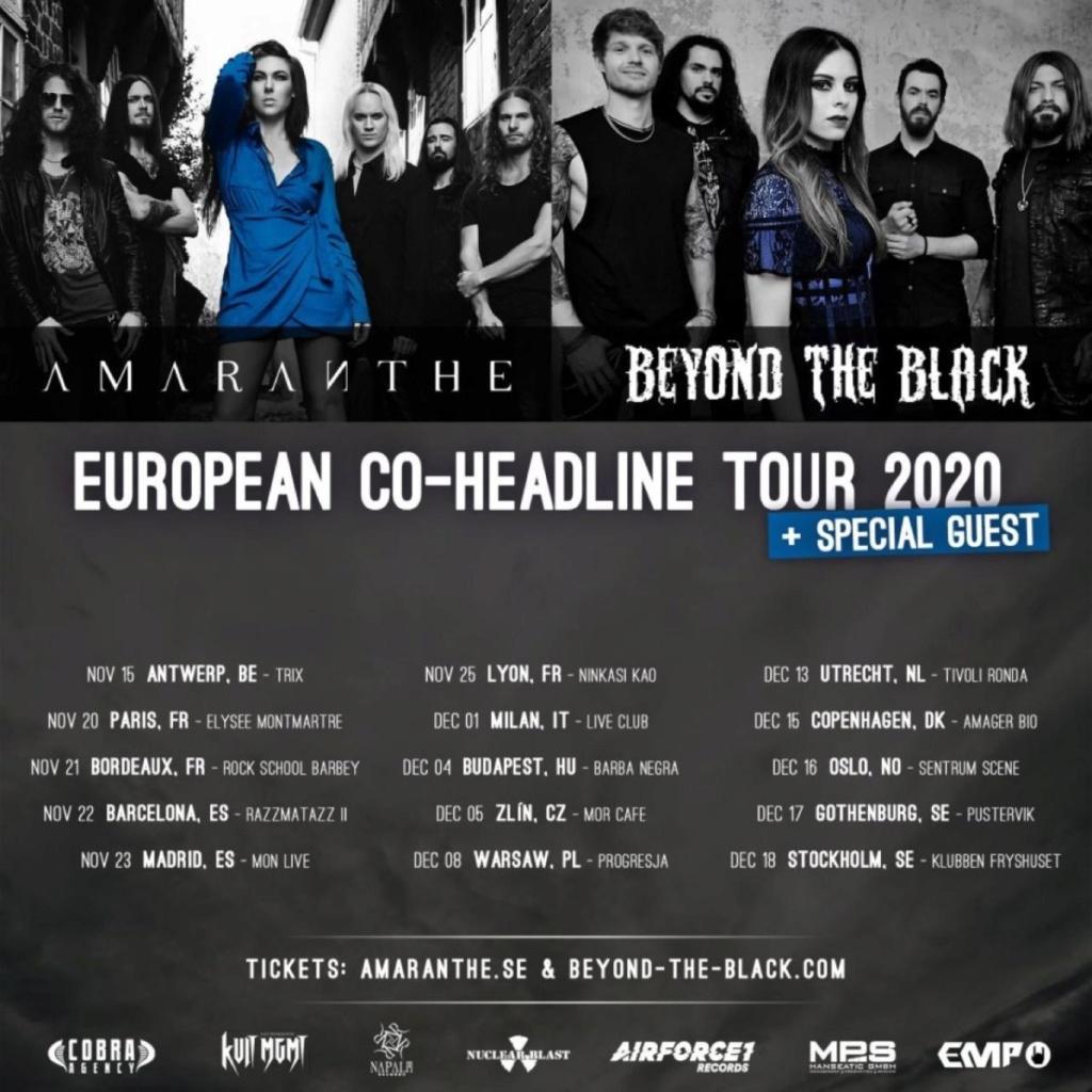 BEYOND THE BLACK... Amaranthe...    EUROPEAN TOUR 2020 Beyond11