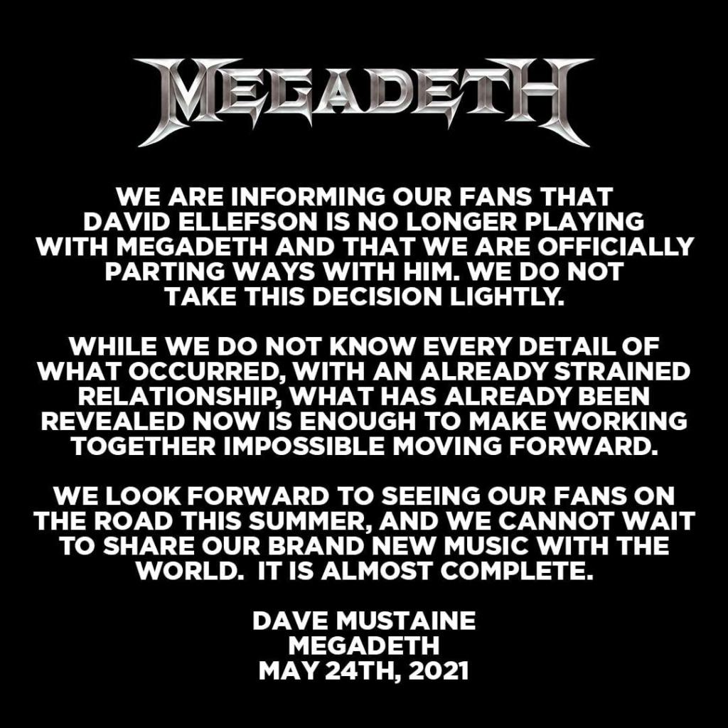 MEGADETH se sépare du bassiste David Ellefson D-mord10
