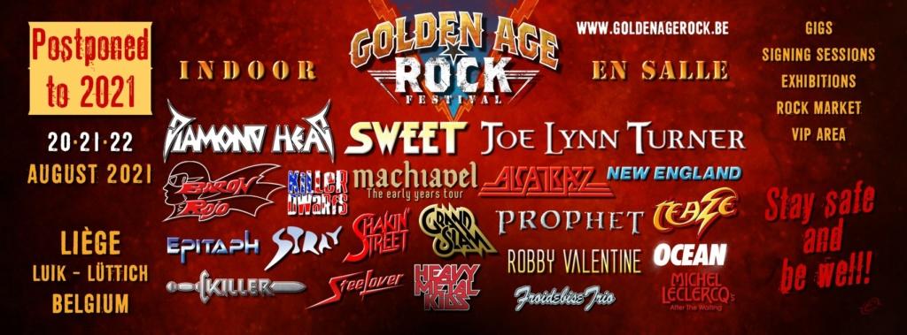 Golden Age Rock Festival le 21,22 et 23 aout 2020 liege ..reporté en 2021 Golden10