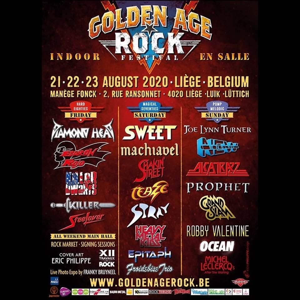 Golden Age Rock Festival le 21,22 et 23 aout 2020 liege ..reporté en 2021 Golden11