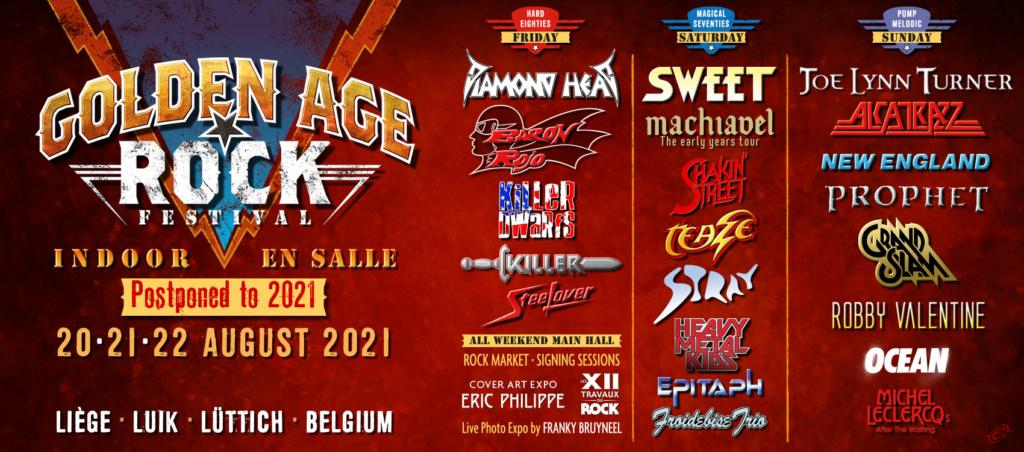 Golden Age Rock Festival le 21,22 et 23 aout 2020 liege ..reporté en 2021 Golden13