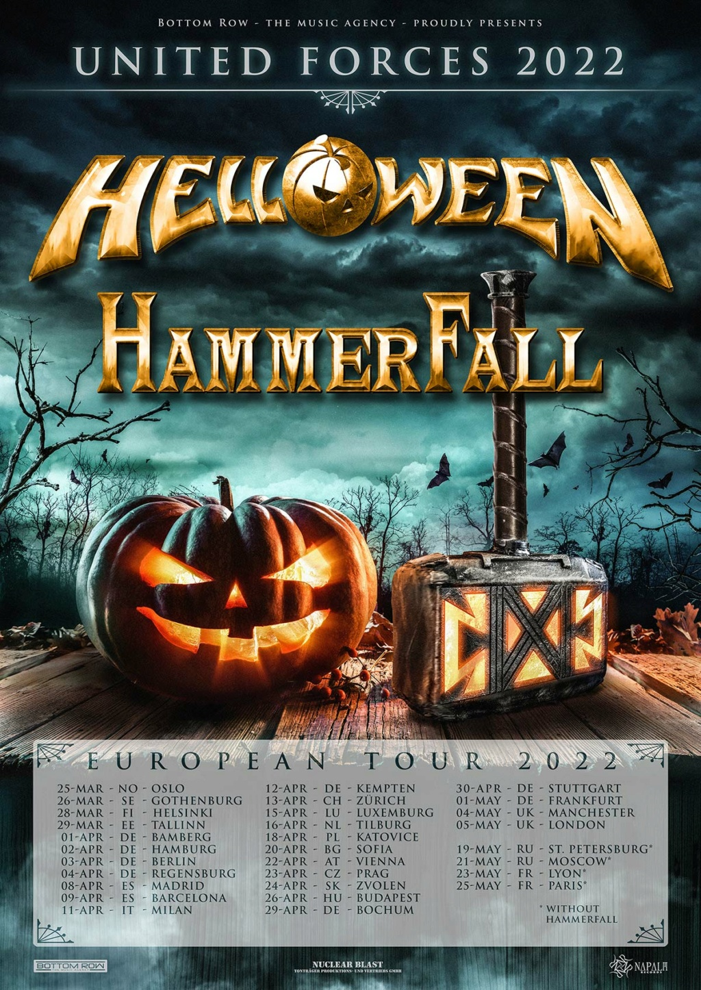 HAMMERFALL announces UNITED FORCES TOUR 2022  Hammer10