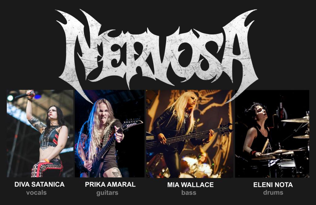 NERVOSA a annoncé sa nouvelle formation Nervos10