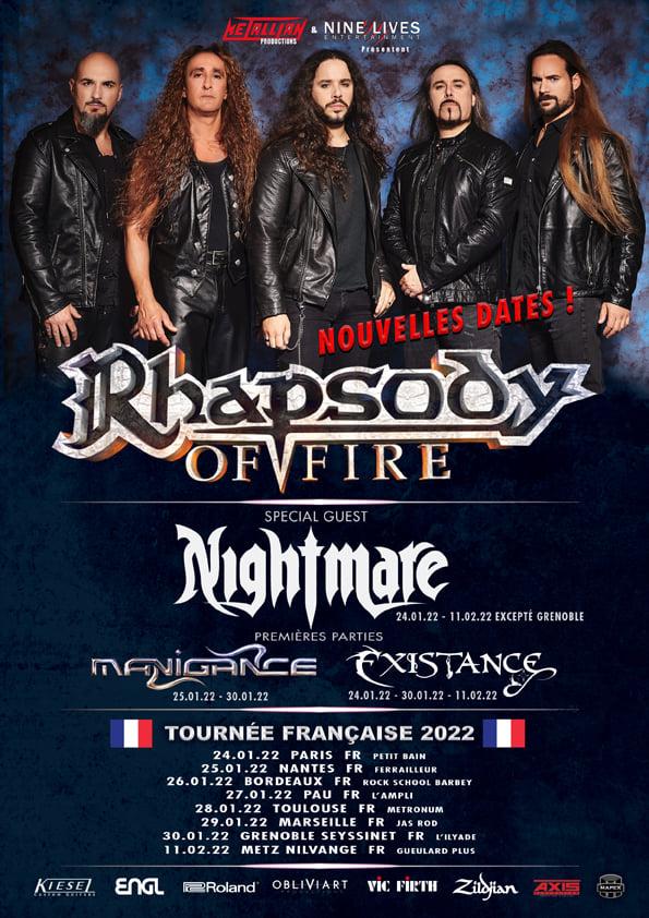 Rhapsody Of Fire Nightmare , Manigance et Existance Tour 2022 Nightm10