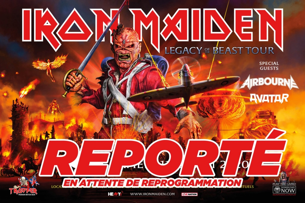 [Report en 2021] IRON MAIDEN • COMMUNIQUE OFFICIEL'Legacy of the Beast' prévu le 11 juillet 2020 à Paris Report10