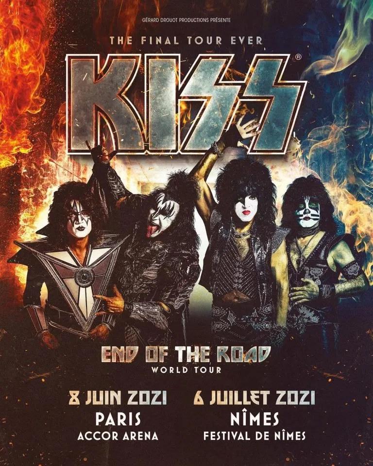 Kiss 2021 End Of The Road European tour W0106