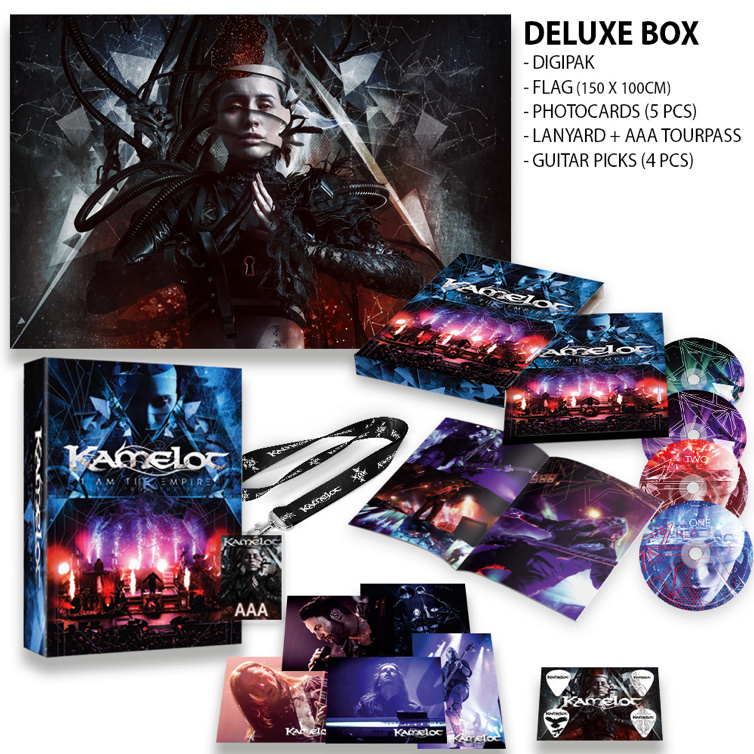 KAMELOT  I Am The Empire - Live From The 013 CD DVD 14 aout 2020 W026