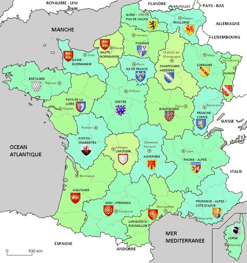 Cartes de scénarios en cas de scission de la Belgique. Cartef10