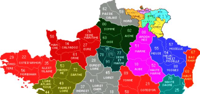 Cartes de scénarios en cas de scission de la Belgique. Wallfr10
