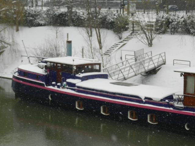 La neige sur l'île de la Jatte (20 janvier 2013) Levall19