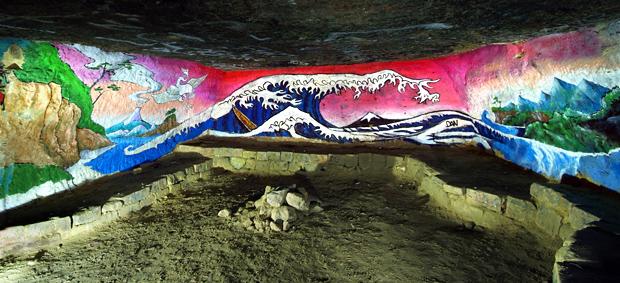 """De """"La Grande Vague"""" de Hokusaï (1831) jusqu'aux catacombes Vague210"""