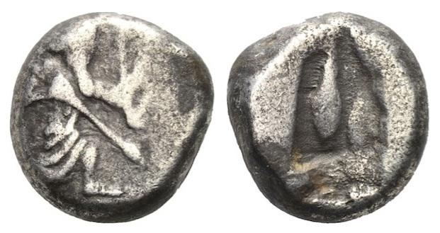 Siclo persa de Darío I el Grande (521-486 a.C.) Kgrhqn11