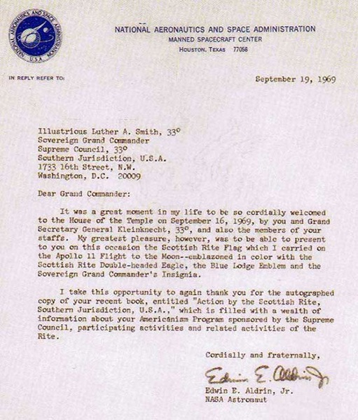 Edwin Eugene (Buzz) Aldrin  *** Tranquility Lodge No. 2000 Aldrin10