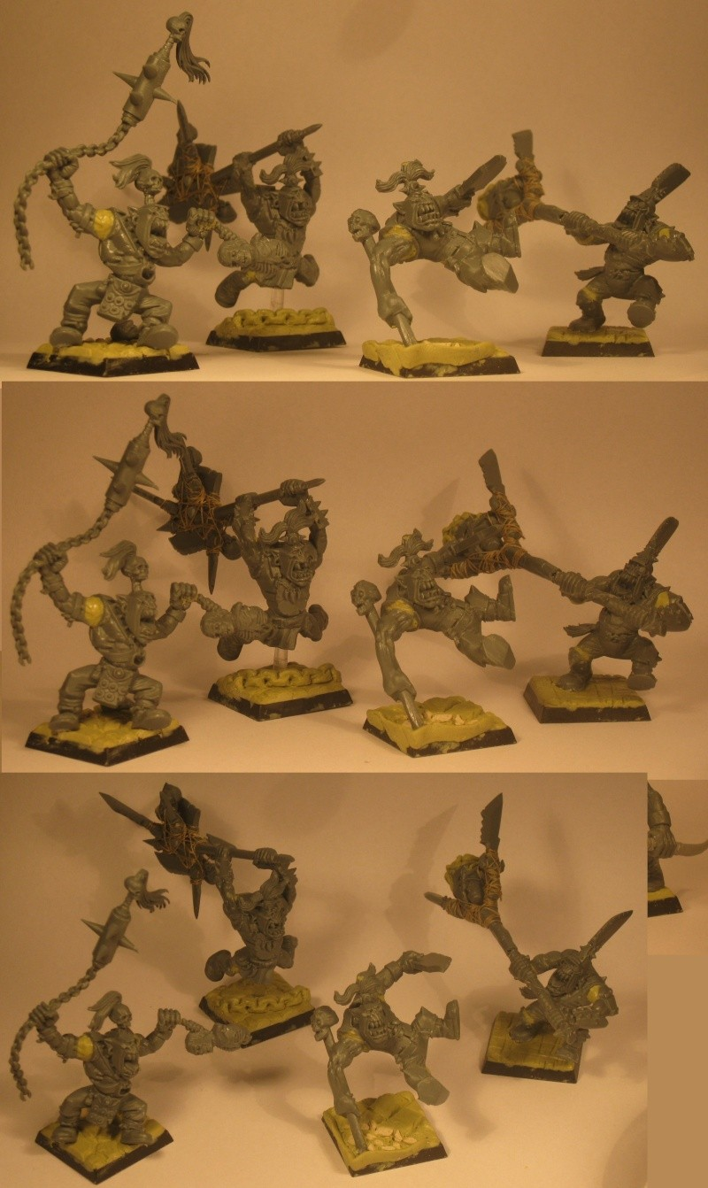 (Black) Orc Warband Practice WIP Warban11