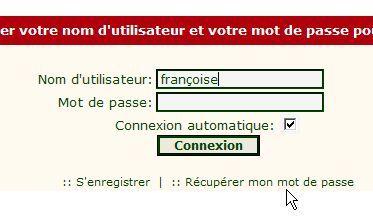 """Problème de """"Mot de passe"""" ? Conn210"""