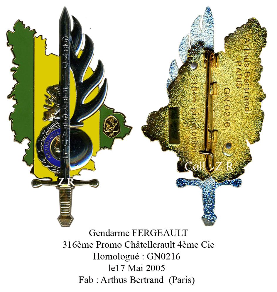 En l'honneur du Gendarme Paul Fergeault de Lezay (79120) Fergea11