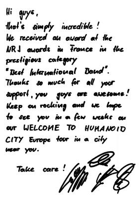 [News] Lettre de remerciement pour les NRJ Music Awards 2010 Nrjtha10