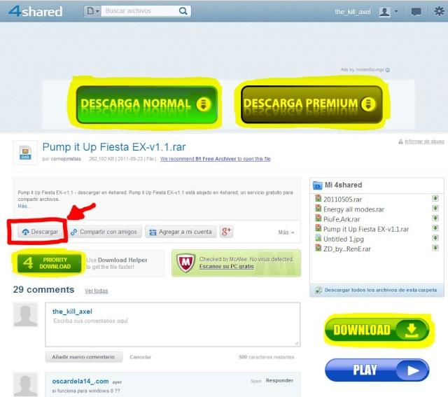 Cómo descargar archivos de internet Descar14