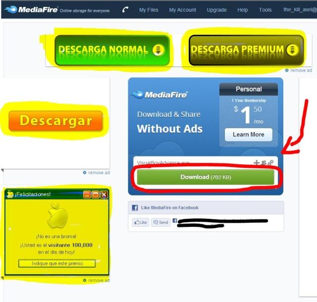 Cómo descargar archivos de internet Mediaf10