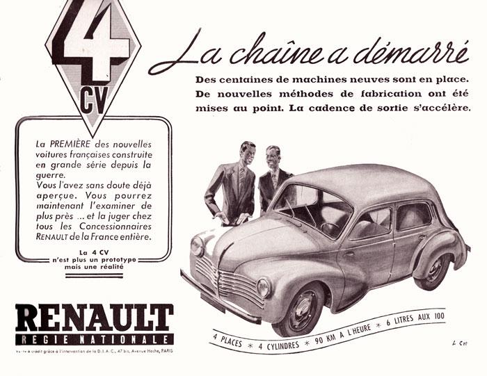 L'  Histoire de RENAULT 4cv310